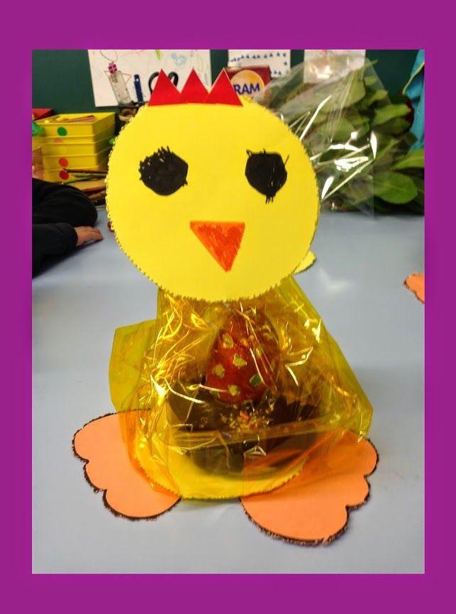 MONA DE PASQUA - Material: cartolina, punxó, colors, gomets - Nivell: Infantil P3 2014/15