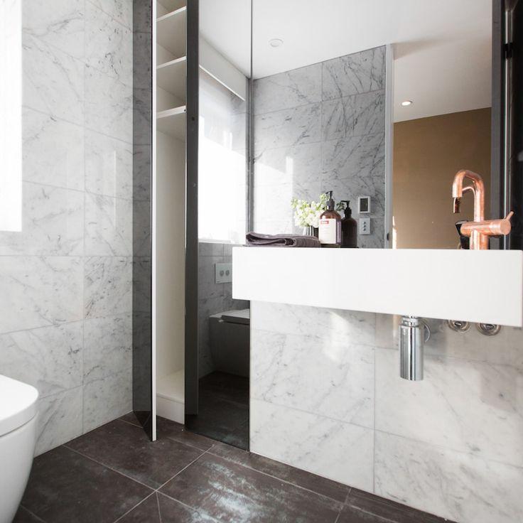 Dean and Shay Room 5   Study, Laundry and Powder #theblock #theblockshop #bathroomdesign