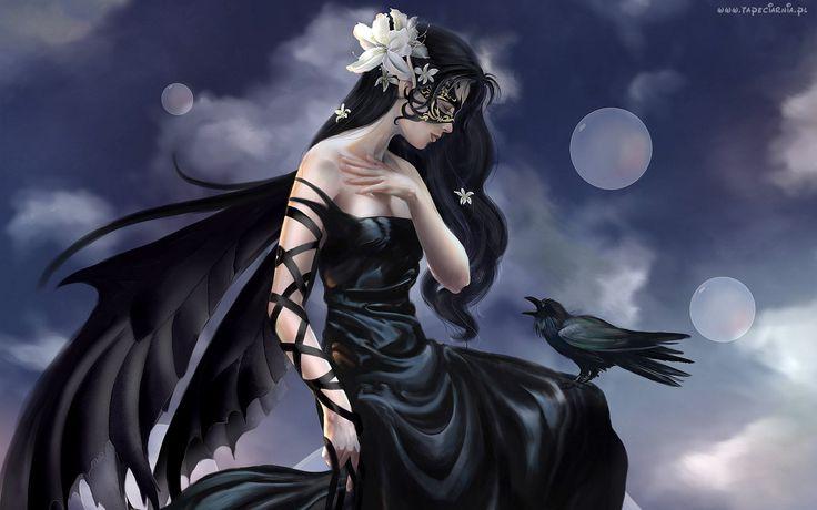 Kobieta, Skrzydła, Ptak