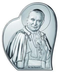 Obraz Święty Jan Paweł II obrazek srebrny