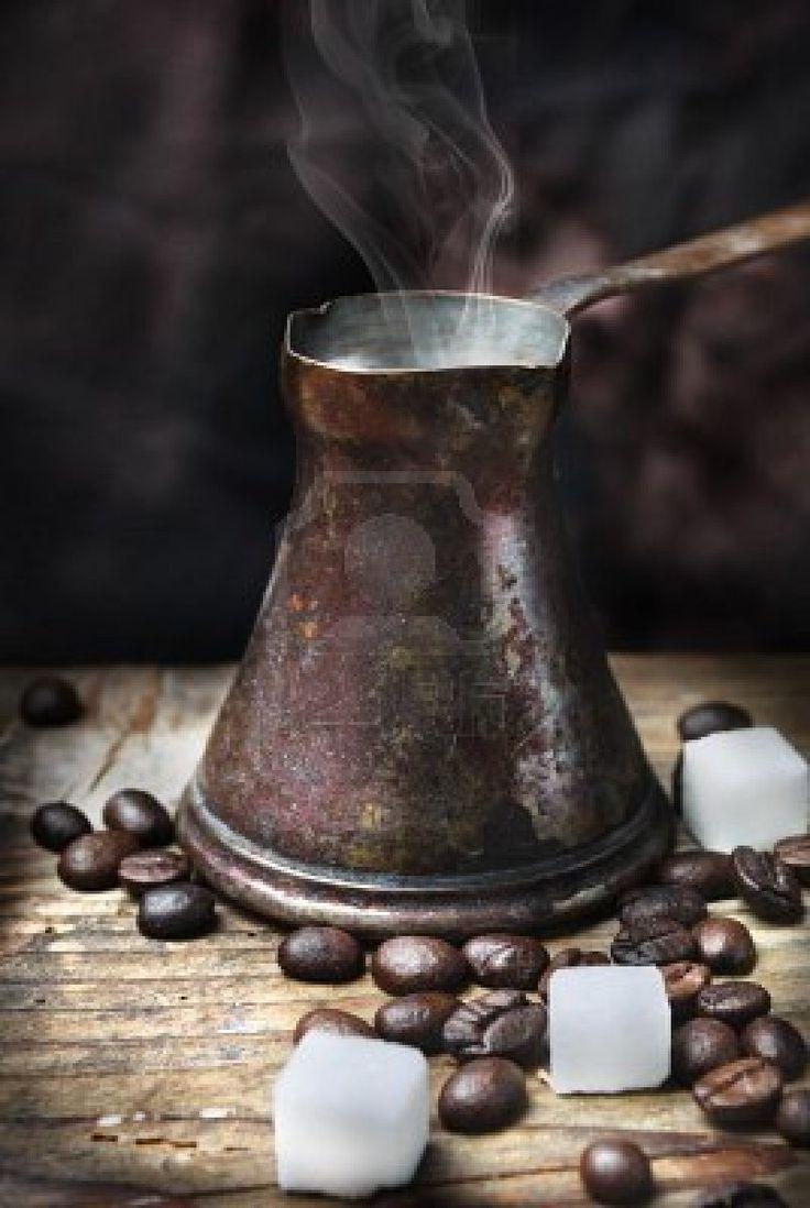 Old-fashioned oriental coffee pot