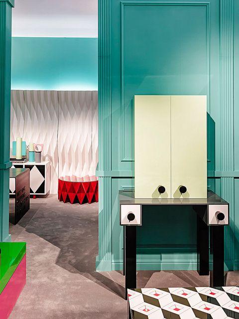 #ernest cabinet, #design by Elena Cutolo for #altreforme A Moveable Feast #stand @iSaloni 2014 #paris #anni20 #roaringtwenties #designweek #interior #home #decor #homedecor #furniture with #woweffect #aluminium