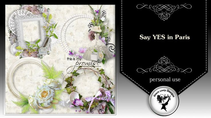 Say YES in Paris - frames by Black Lady Designs