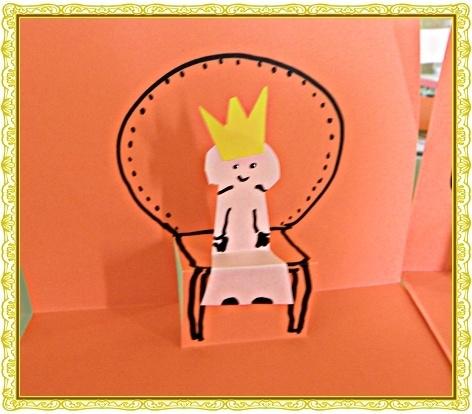 Knutselwerkje Kroningsdag: een pop-up troon voor de Koningin