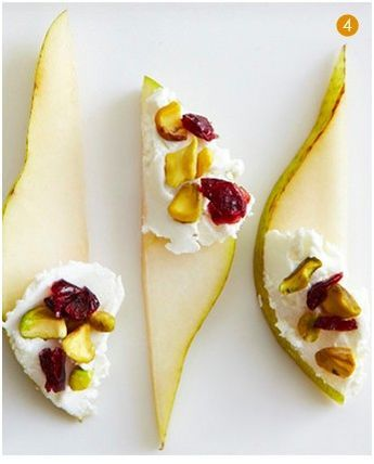 Pears Goat Cheese Pistachios and dried cranberries…