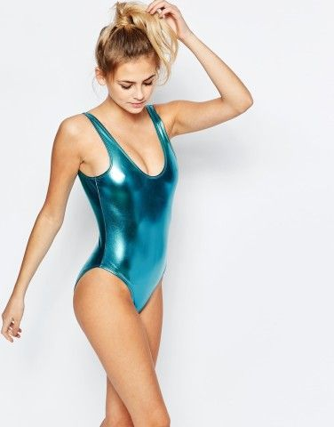 Who's brave enough to rock a metallic swimsuit this summer?
