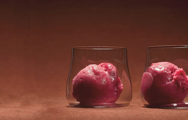 Cranberry And Vanilla Bean Sorbet