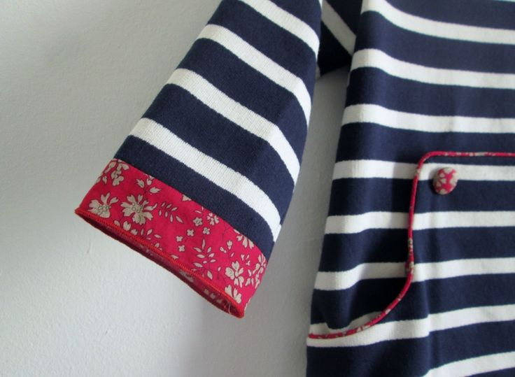 Louisa dress en jersey marin (version des p'tits pots)