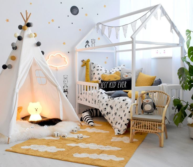 Buy a modern nursery with a house bed online at Fantasyroom