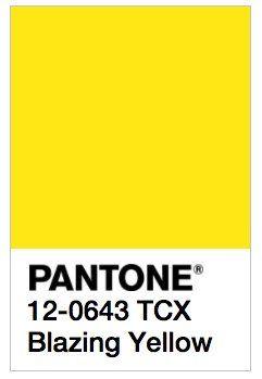 Image result for PANTONE 12-0643 TCX Blazing Yellow
