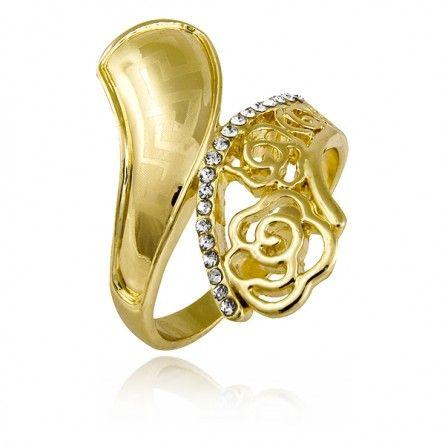 Piękny i elegancki pierścionek z kwiecistym motywem. #MarcoDiamanti #pierścionek #sklep