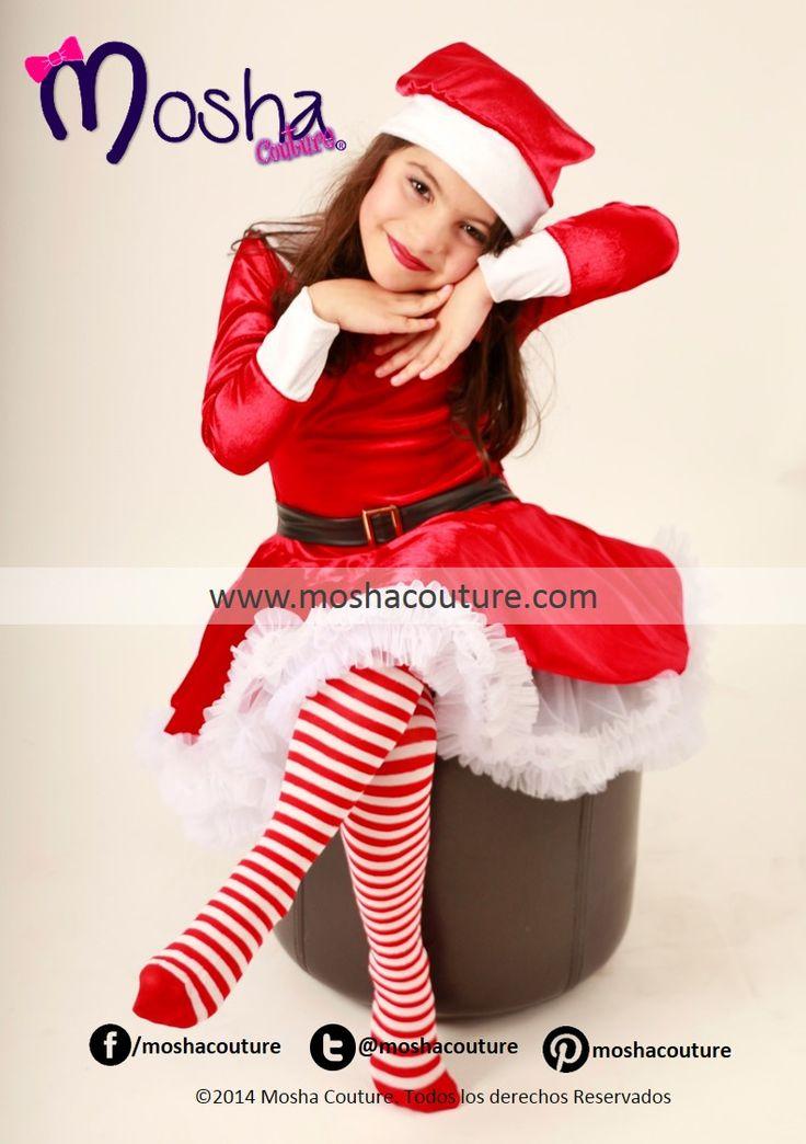 Nuestro Moshisimo diseño de Santa Claus para niña, elaborado de fina tela aterciopelada color rojo, con nuestras características faldas de vuelo que le dan un toque maravilloso y mágico, incluye gorro.  http://www.moshacouture.com/#!product/prd1/3204575701/vestido-disfraz-de-santa-para-ni%C3%B1a