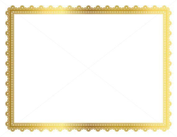 630 best etsy clipart images on pinterest clip art illustrations and handmade products for Certificate borders and frames