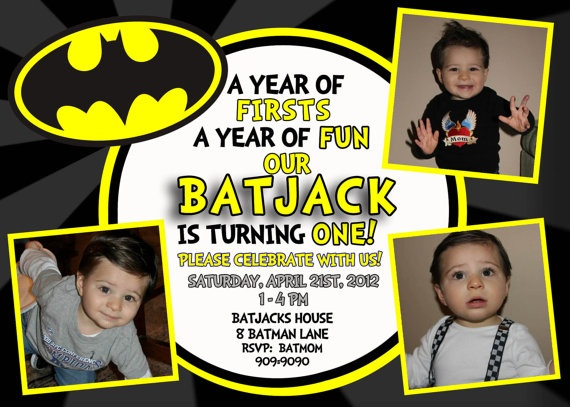 Birthday Superman Superhero Invitation 1St 2Nd 3Rd 4Th Id Have An Argument With The Husband As To Batman Or Fireman For Our Little Boy
