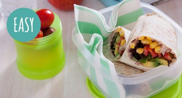 Make these tasty Mountain Bread Tuna Wraps the hero of any lunchbox in just 10 minutes.  #lunch #tuna #recipe