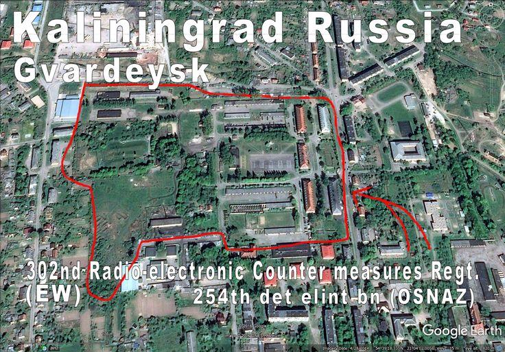 EW (Electronic Warfare) units at Gvardeysk, Kaliningrad, Russia.