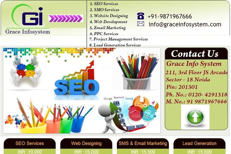 Grace Info System is topmost new innovative company of IT professionals in Noida, India. Providing services of SEO business promotion