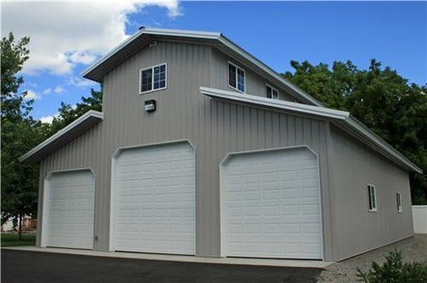 metal barn with living quarters floor plans | 40x50x22 Monitor Shop with Living Quarters #4260