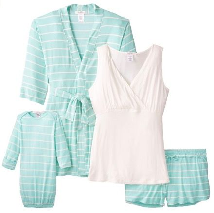 Women's Maternity Nursing 5-Piece Shorts Pajama Set