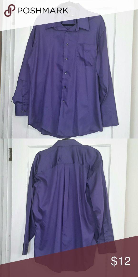 🚀Sale 🚀Geoffrey Beene Dress Shirt Purple - Wrinkle Free - Fitted Geoffrey Beene Shirts Dress Shirts