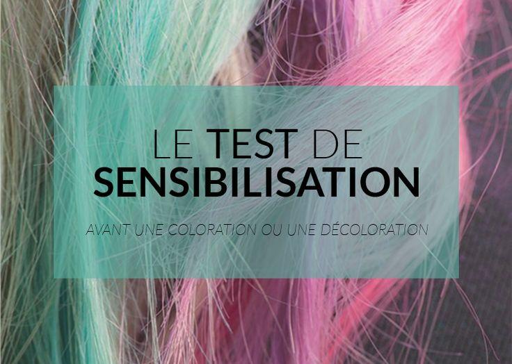 le test de sensibilisation avant une dcoloration ou une coloration permet de dtecter les ventuelles allergies - Coloration Sans Dcoloration