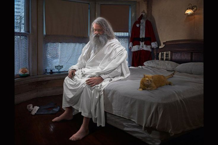 """Elohim (God the Father) """"Gods of Suburbia"""": Dina Goldstein's Arresting Photo Series Featuring Ancient Gods in Modern-Day Scenarios • Page 2 of 6 • BoredBug"""