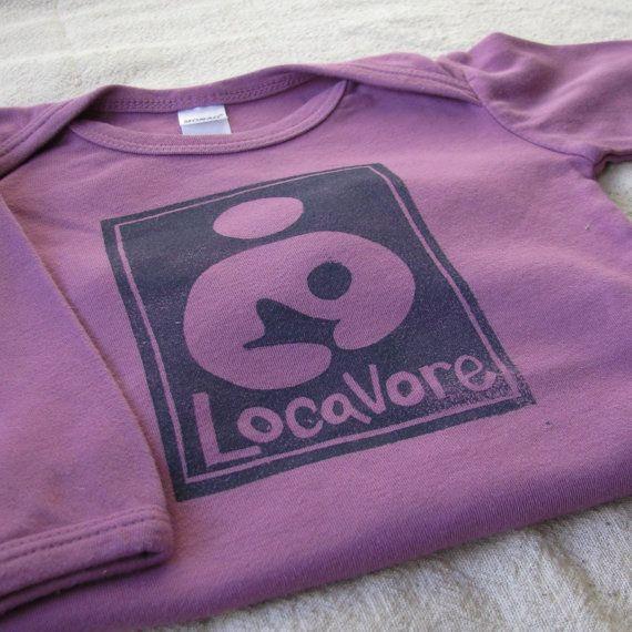 Breastfeeding Locavore Onesie Lino Cut Print by stolenmoments, $20.00