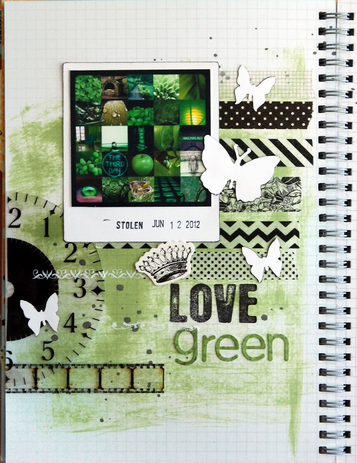 Life is a Canvas: Smash Book Challenge Day 15Simply Smash, Journals Challenges, Favorite Colors, Art Journals, Smash Journals, Book Inspiration, Canvas, Smash Book Challenges, Smashbook Scrapbook