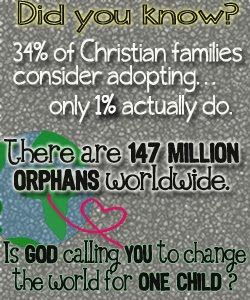 You say put the child up for adoption (I do to! Abortion is wrong!) but who's going to adopt that child??? Will you?