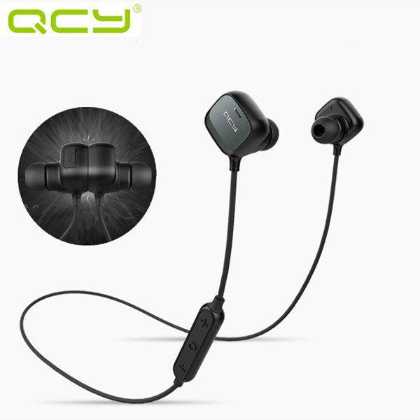 QCY QY12 el deporte de adsorción magnética estéreo del auricular de Bluetooth 4.1 para auriculares inalámbricos Sale - Banggood Móvil