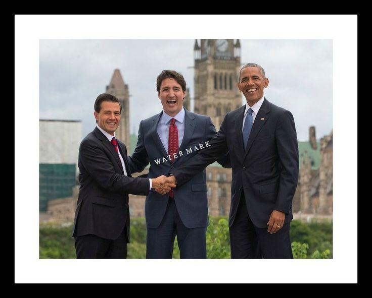 JUSTIN TRUDEAU 11X14 Photo Print w/ BARACK OBAMA & ENRIQUE PENA NIETO Canada  | Collectibles, Historical Memorabilia, Political | eBay!