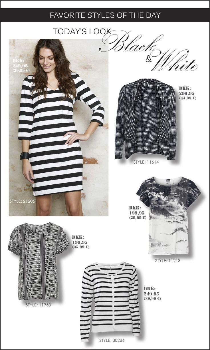 soyaconcept - dress - cardigan - blazer - top - blouse - stripes - black and white