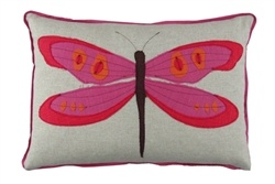 Dragon Applique Lumbar Pillow in Orchid...