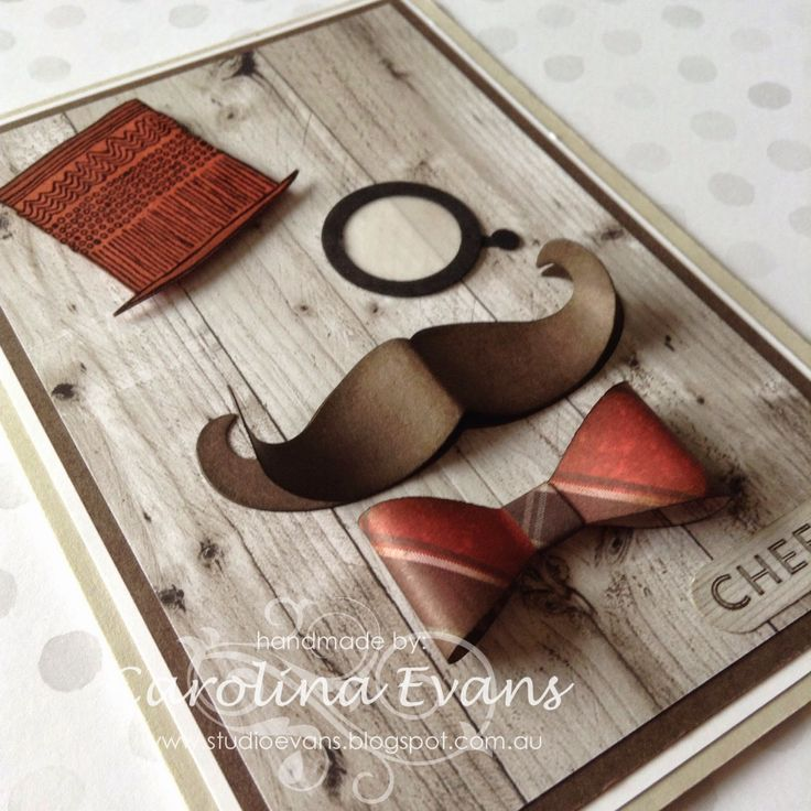 Time to Celebrate Stamp set, Punch Art Debonair Top Hat & Monocle card, Using Stampin' Up! products created by Carolina Evans #stampinup