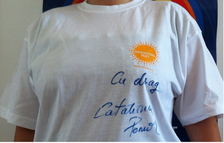 Tricou Gerovital Sun, semnat de Catalina Ponor