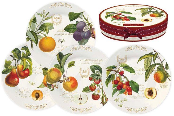 Набор из 4-х десертных тарелок, Nuova R2S, Фрутти, 19см. из серии Фрутти за 2179.00 руб. Купить Наборы тарелок Nuova R2S (Китай) с доставкой