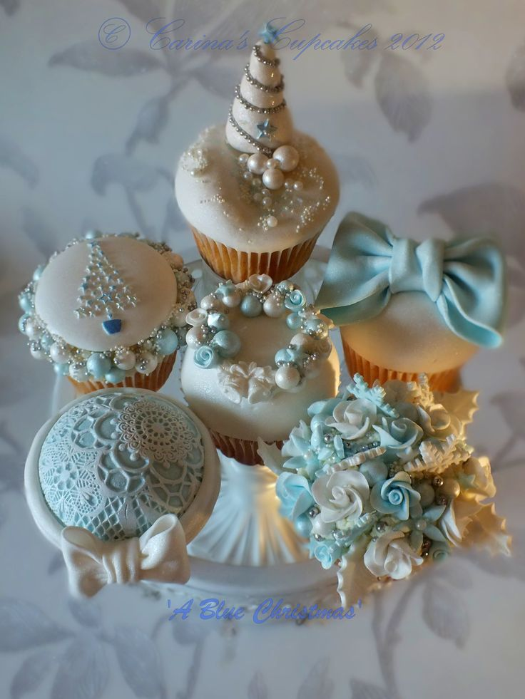 Cute and classy Christmas decorated cupcakes - For all your cake decorating supplies, please visit craftcompany.co.uk