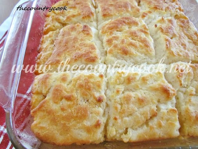 Butter Dip Biscuits - No rolling or cutting involved at all with these...will need some buttermilk! Yum!| thecountrycook.net
