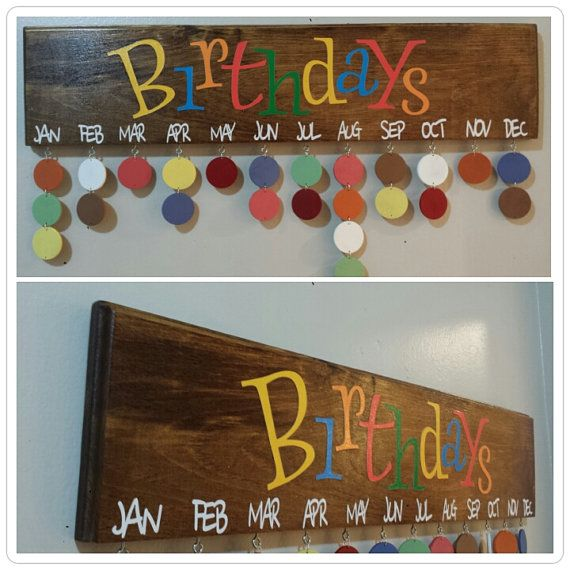 Family Birthdays  Birthday Calendar Sign  by JackisSigns on Etsy, $35.00