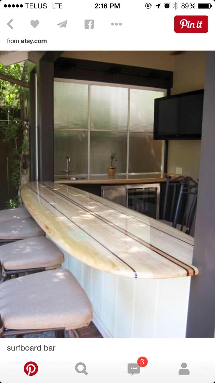 15 best nautical bar ideas images on pinterest bar ideas for Surfboard bar top ideas