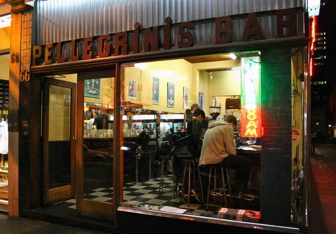 it is said (by Pellegrini's) that the first espresso machine to arrive in Melbourne was delivered here in 1954 – opening the gates to a city...