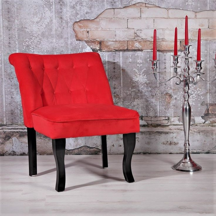 Small Red Accent Chair