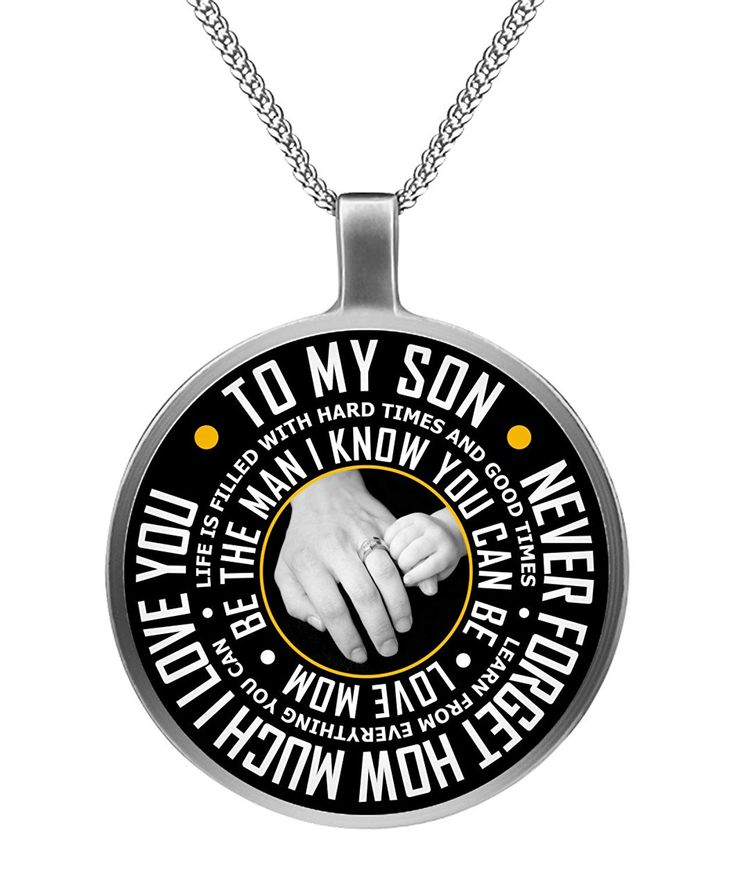 Mother son necklace to my son necklace gifts for son