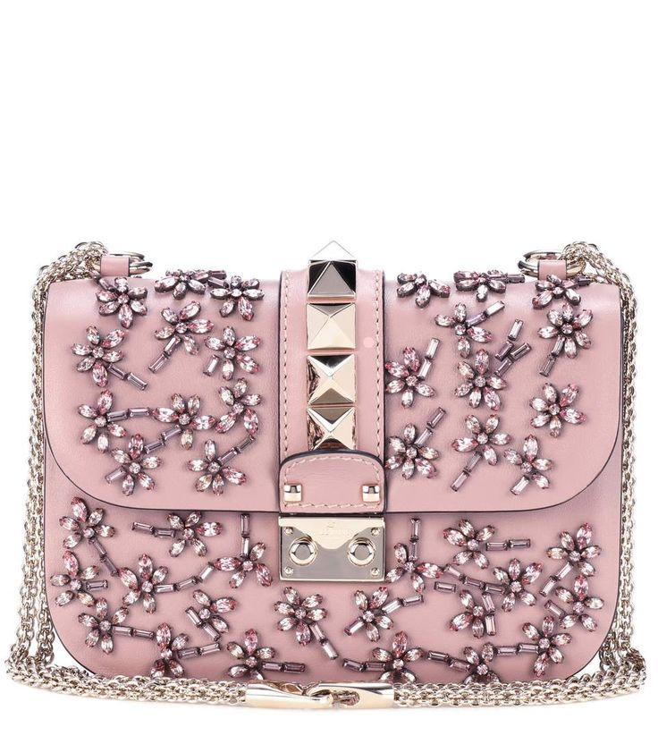 VALENTINO-Valentino Garavani Lock Small Leather Crossbody Bag - $3575