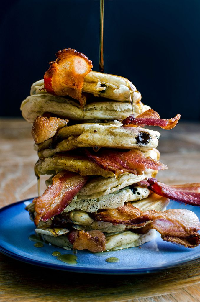 BACON PANCAKES MAKIN BACON PANCAKES TAKE SOME BACON AND I'LL PUT IT IN ...