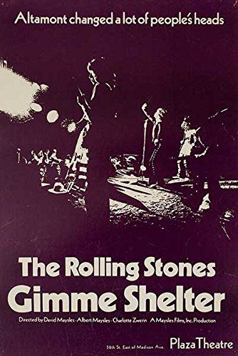 Gimme Shelter Original USA Movie Poster - Altamont Speedway Free Concert (1969)