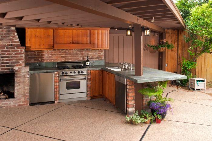Bauen Sie Ihre eigene Outdoor-Küche – 23 Beispiele für hausgemachte Gartenküchen – Decoration Solutions   – Deutch | Sosyal Penguin