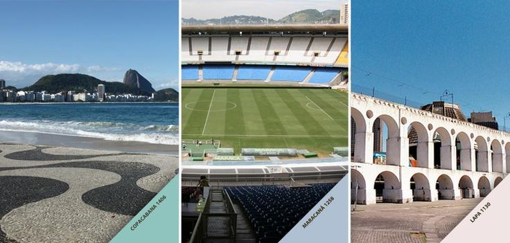 SouLoucopelasCores... do Rio de Janeiro! Qual desses locais, que inspiraram tons da Tintas Iquine você mais gosta? Copacabana, Maracanã ou Lapa?