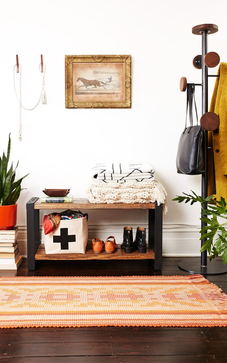 The secret to a warm and welcoming entryway? Stylish storage around every turn…