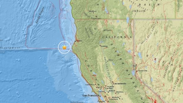 5.8 magnitude earthquake strikes off California  New York: An earthquake measuring 5.8 on the Richter scale has struck off California in the Pacific Ocean, the US Geological Survey (USGS) said. Visit: http://www.thisismyindia.com/india_news/topstory.html#Topstory